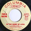 PAUL WAYNE - IN THE NAME OF LOVE[columbia/us]'6x/2trks.7 Inch