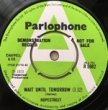 HOPESTEET - WAIT UNTIL TOMORROW[Parlophone/UK]'73/2trks.7 Inch w/company slv. *wol(vg-/vg++)