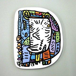 【メール便OK】小西慎一郎 アルファベットアニマルポストカード [D] サイ