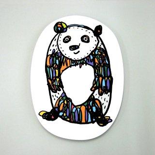 【メール便OK】小西慎一郎 アルファベットアニマルポストカード [O] パンダ
