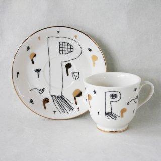 【ギフト】【ペアカップ】studio coote スタジオクート 小西慎一郎 アルファベット コーヒーカップ&ソーサ[P]