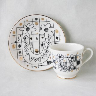 【ギフト】【ペアカップ】studio coote スタジオクート 小西慎一郎 アルファベット コーヒーカップ&ソーサ[U]
