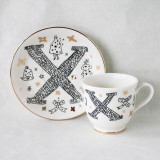 【ギフト】【ペアカップ】studio coote スタジオクート 小西慎一郎 アルファベット コーヒーカップ&ソーサ[X]