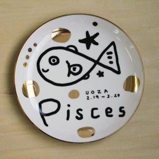 【ギフト】studio coote スタジオクート 小西慎一郎 星座プレート Pisces/魚座