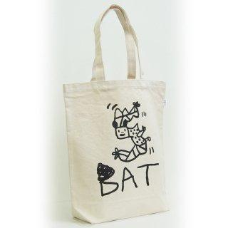 【メール便OK】studio coote スタジオクート 小西慎一郎 モノクロアニマル トートバッグ キャンバス地 Mサイズ 10リッター 〔5〕BAT