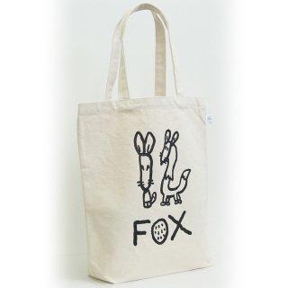 【メール便OK】studio coote スタジオクート 小西慎一郎 モノクロアニマル トートバッグ キャンバス地 Mサイズ 10リッター 〔12〕FOX