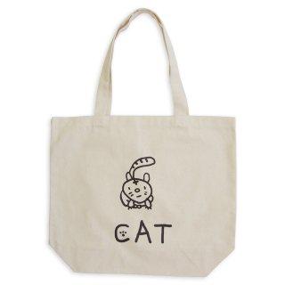【メール便OK】studio coote スタジオクート 小西慎一郎 モノクロアニマル トートバッグ キャンバス地 Lサイズ 19リッター 〔6〕CAT