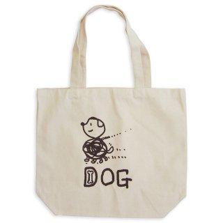 【メール便OK】studio coote スタジオクート 小西慎一郎 モノクロアニマル トートバッグ キャンバス地 Lサイズ 19リッター 〔8〕DOG