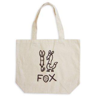 【メール便OK】studio coote スタジオクート 小西慎一郎 モノクロアニマル トートバッグ キャンバス地 Lサイズ 19リッター 〔12〕FOX