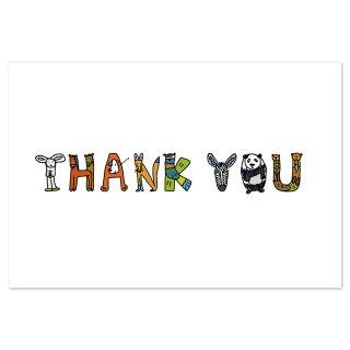 【メール便OK】studio coote スタジオ クート 小西慎一郎 ベニヤアニマルポストカード [THANK YOU]