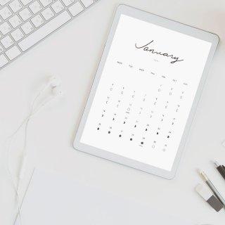 デジタル版|Digital Moon Calendar 2021|月のカレンダー 2021年