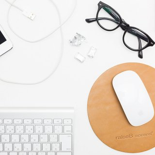 Raise8apparel LEATHER MOUSE PAD - TAN
