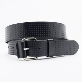 New Punching Star[Black] / 38mm Genuine Leather ITALY