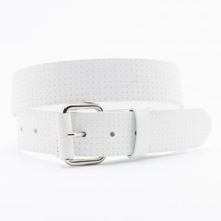 New Punching Star[White] / 38mm Genuine Leather ITALY