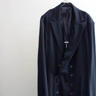 bajra トリアセ強撚スムース ロングジャケット(121BJ01)BLK
