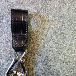 ISAMU KATAYAMA BACKLASH クロコオイル仕上げキーホルダー(387-02)BLK