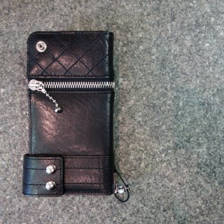 ISAMU KATAYAMA BACKLASH イタリーショルダーレザー携帯ケース(705-03)BLK