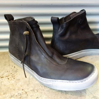 incarnation calf leather warp front mid sneaker lined(31410-7383)BLK