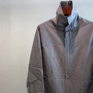 incarnation dobby cotton elastern high neck zip front lining coat(31382-5212)GRY