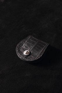 BACKLASH The Line オイルクロコ+イタリアンオイルレザー コインケース(T-044)