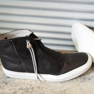 incarnation horse leather wrap front mid sneaker lined(31519-7383)