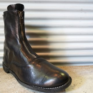 GUIDI HORSE FULL GRAIN LINED FRONT ZIP BOOT SOLE LEATHER
