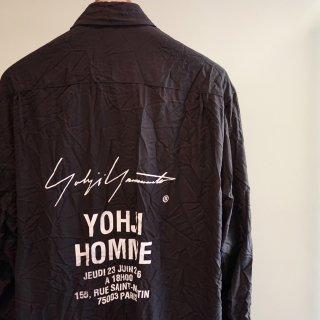 YOHJI YAMAMOTO ツイルシワ加工 スタッフシャツB(HW-B09-941)