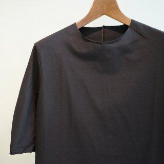 incarnation co92% el8% cut&sewn carved seam short sleeve(31682-3310SS)BLK