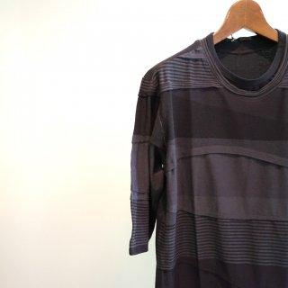 The Viridi-anneタックボーダーTシャツ(VI-2878-01)