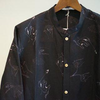 individual sentiments rayon/linen dowsing printed shirt(SH33-RY2-NO)