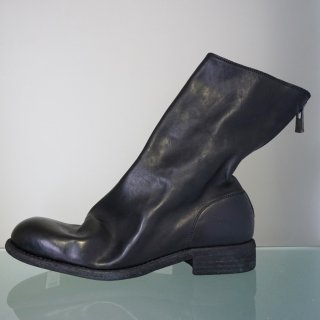 GUIDI HORSE FULL GRAIN LINED BACK ZIP MID BOOT SOLE LEATHER(988)