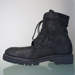 GUIDI CORDOVAN CONT LINED LACED UP BOOT SOLE RUBBER(795V)