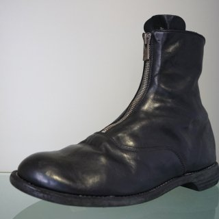 GUIDI HORSE FULL GRAIN LINED FRONT ZIP BOOT SOLE LEATHER(210)