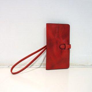 ISAMU KATAYAMA BACKLASH イタリアンダブルショルダー携帯ケース+財布(849-06)RED
