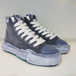 Maison MIHARA YASUHIRO original sole over dyed hi-cut sneaker(A04FW709)BLK