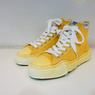 Maison MIHARA YASUHIRO original sole over dyed hi-cut sneaker(A04FW709)YEL