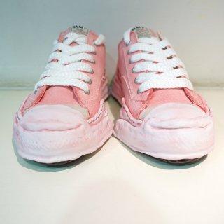 Maison MIHARA YASUHIRO Toe cap Original sole Overdyed Canvas Low top Sneaker(A05FW706)PNK