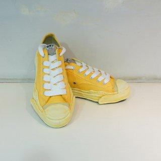 Maison MIHARA YASUHIRO Toe cap Original sole Overdyed Canvas Low top Sneaker(A05FW706)YEL