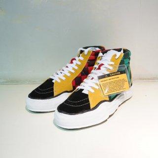 Maison MIHARAYASUHIRO original sole BIG gingham hi top sneaker(A03FW707)MLT