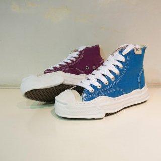 Maison MIHARA YASUHIRO original sole toe cap canvas hi-top sneaker(A05FW701)BLU/PUR