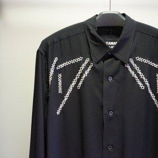 YOHJI YAMAMOTO HOMME Y-定番BIG 刺繍 レーヨンシャツ(HD-B07-200)