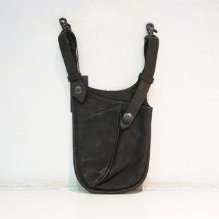 ISAMUKATAYAMA BACKLASH ダブルショルダー タンニン製品染めウェストバッグ(92-04)BLK