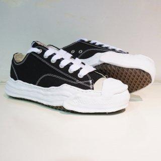 Maison MIHARA YASUHIRO toe cap original sole canvas low top sneaker(A05FW702)BLK