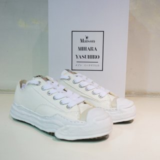 Maison MIHARA YASUHIRO toe cap original sole canvas low top sneaker(A05FW702)WHT