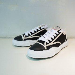 Maison MIHARAYASUHIRO original sole canvas piping low top sneaker(A04FW707)BLK