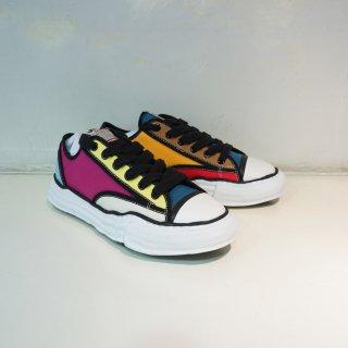 Maison MIHARAYASUHIRO original sole canvas piping low top sneaker(A04FW707)MLT