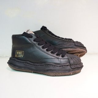 Maison MIHARA YASUHIRO OG Sole Shellcap Leather High-top Sneaker(A06FW701)BLK/BLK