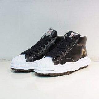 Maison MIHARA YASUHIRO OG Sole Shellcap Leather High-top Sneaker(A06FW701)BLK