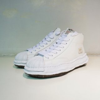 Maison MIHARA YASUHIRO OG Sole Shellcap Leather High-top Sneaker(A06FW701)WHT