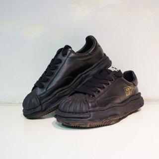 Maison MIHARA YASUHIRO OG Sole Shellcap Leather Low-top Sneaker(A06FW702)BLK/BLK